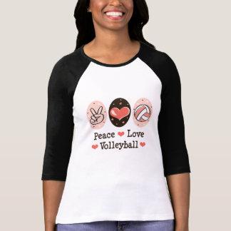 Tee - shirt de raglan de volleyball d'amour de t-shirt