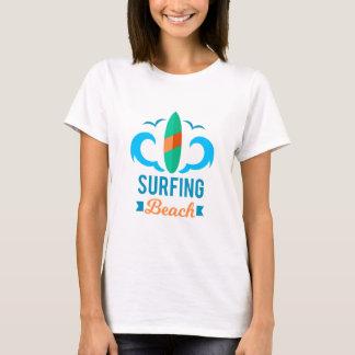 Tee shirt Femme Blanc Basic Surf T-shirt