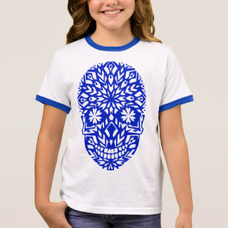 Tee-shirt for girl with raglan handles 3/4 of ringer T-Shirt