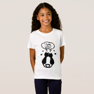 "Tee-shirt girl ""I coils you"" 2/16 years T-Shirt"