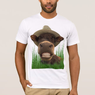 Tee-shirt humour cow with the white teeth T-Shirt