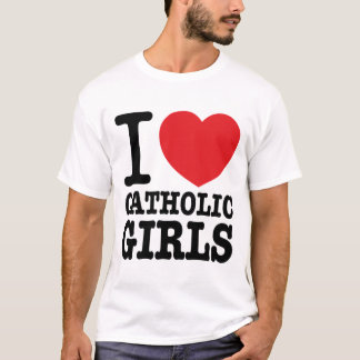 "Tee-shirt ""I coils Catholic Girls "" T-Shirt"