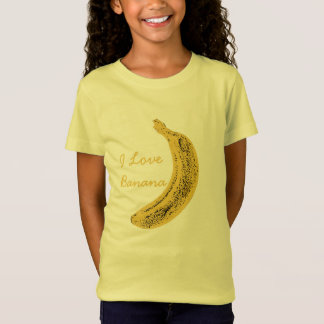 Tee-shirt in fine jersey for girls, Banana T-Shirt