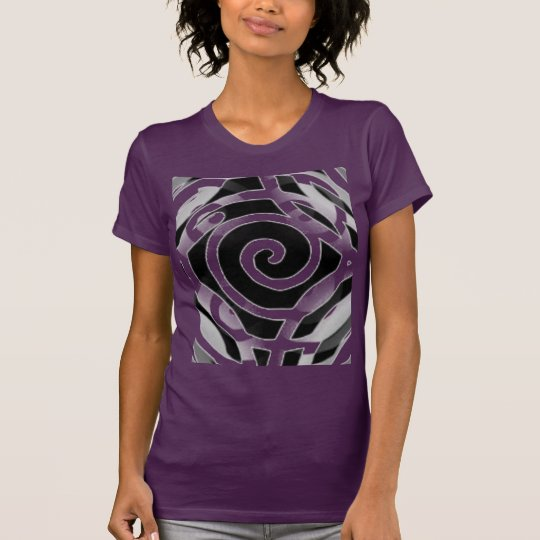 Tee-shirt in fine jersey woman Abstracts Form T-Shirt