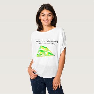 Tee-shirt interior diamond yellow symphony green T-Shirt