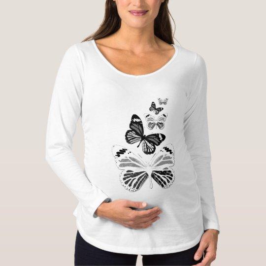 Tee-shirt pregnancy long sleeves white, maternity T-Shirt