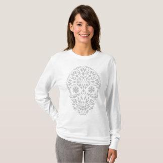 Tee-shirt skull - ornament winter snowflake T-Shirt