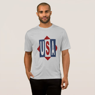 TEE-SHIRT THE USA SPORT - TEAK T-Shirt