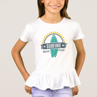 Tee-shirt To dishevel Girl Surfing T-Shirt