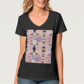 Tee-shirt V-neck Hanes Nano for woman, Feathers T-Shirt