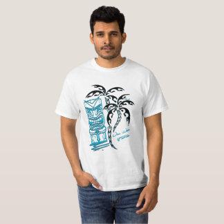 Tee-shirt white man palm trees tiki T-Shirt