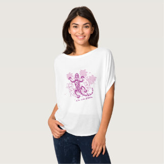 Tee-shirt woman high round horoscope lizard F T-Shirt