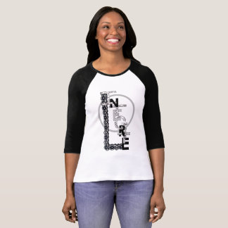"Tee-shirt woman sleeves 3/4 ""Integrity "" T-Shirt"
