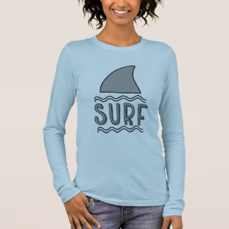 Tee-shirt Woman White Long Sleeves Surfing Long Sleeve T-Shirt