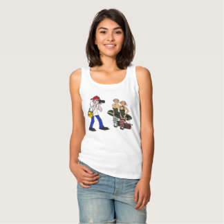 Tee-shirt woman without sleeve snipe tank top