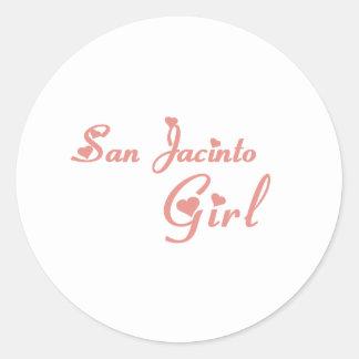 Tee - shirts de fille de San Jacinto Sticker Rond