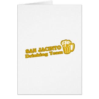 Tee - shirts potables d'équipe de San Jacinto Carte De Vœux