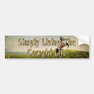 TEE Simply Living Cowgirl Life Bumper Sticker