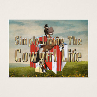 TEE Simply Living Cowgirl Life Business Card