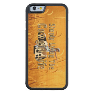 TEE Simply Living Cowgirl Life Carved Maple iPhone 6 Bumper Case