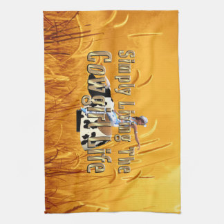 TEE Simply Living Cowgirl Life Kitchen Towel