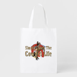 TEE Simply Living Cowgirl Life Reusable Grocery Bag