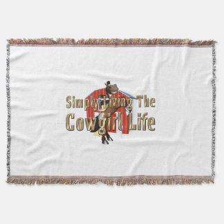 TEE Simply Living Cowgirl Life Throw Blanket