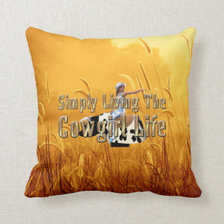 TEE Simply Living Cowgirl Life Throw Pillow