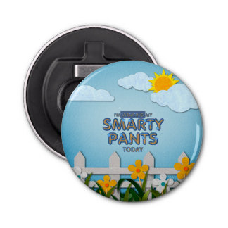 TEE Smarty Pants Button Bottle Opener
