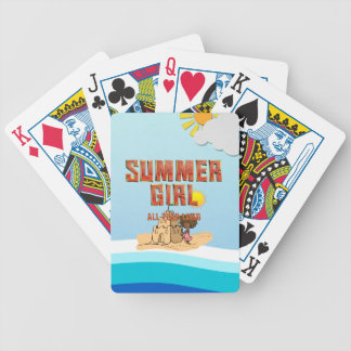 TEE Summer Girl Bicycle Playing Cards