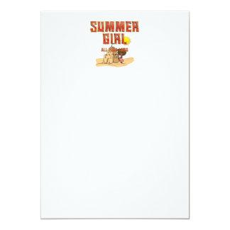 TEE Summer Girl Card