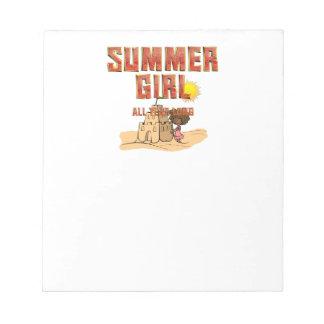 TEE Summer Girl Notepad
