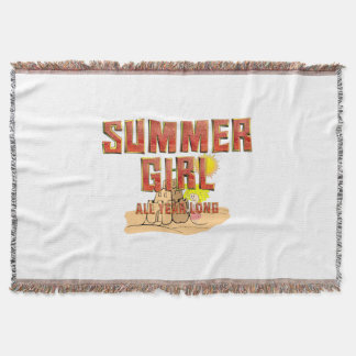 TEE Summer Girl Throw Blanket