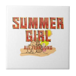 TEE Summer Girl Tile