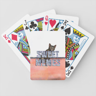 TEE Sweet Memes Bicycle Playing Cards