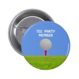 """""""Tee"""" Tea Party Member Spoof Gift Products Buttons"""