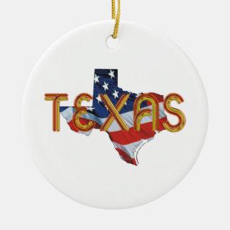 TEE Texas Patriot Ceramic Ornament