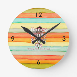 TEE Things That Are Sweet Round Clock