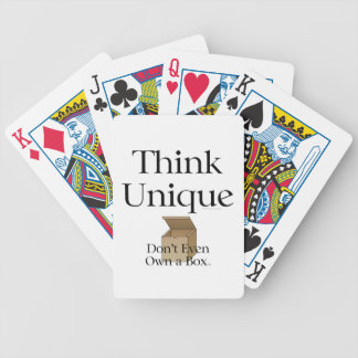 TEE Think Unique Bicycle Playing Cards