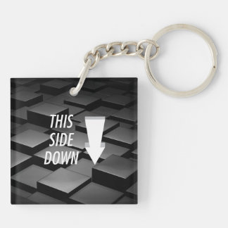 TEE This Side Down Keychain