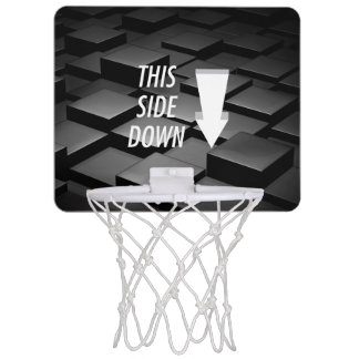 TEE This Side Down Mini Basketball Backboard