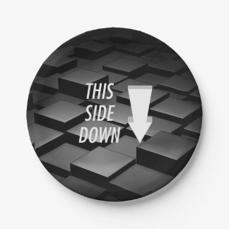 TEE This Side Down Paper Plate