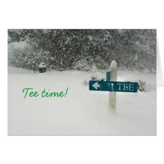 Tee time! card