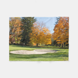Tee Time in Autumn Fleece Blanket