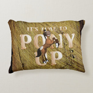 TEE Time to Pony Up Decorative Pillow