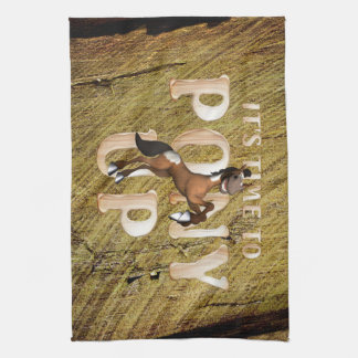 TEE Time to Pony Up Kitchen Towel