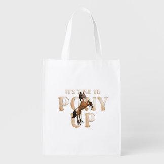 TEE Time to Pony Up Reusable Grocery Bag