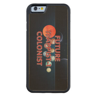 TEE Trappist-1 Colonist Carved Maple iPhone 6 Bumper Case