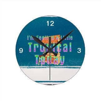 TEE Tropical Tiki Wall Clock