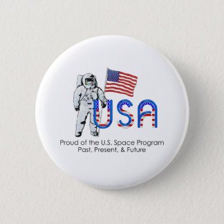 TEE U.S. Space Program 2 Inch Round Button